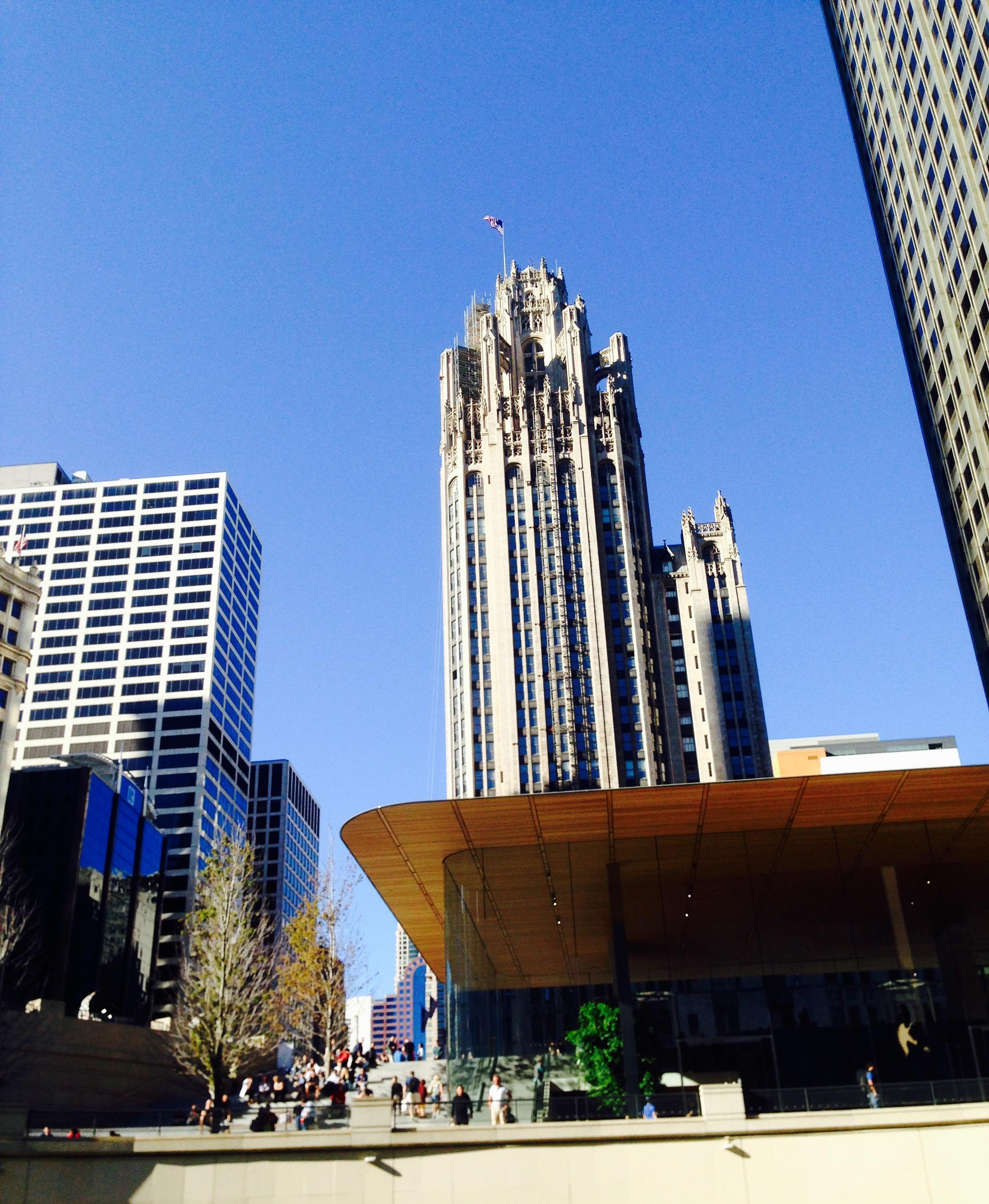 Tribune Tower & Apple