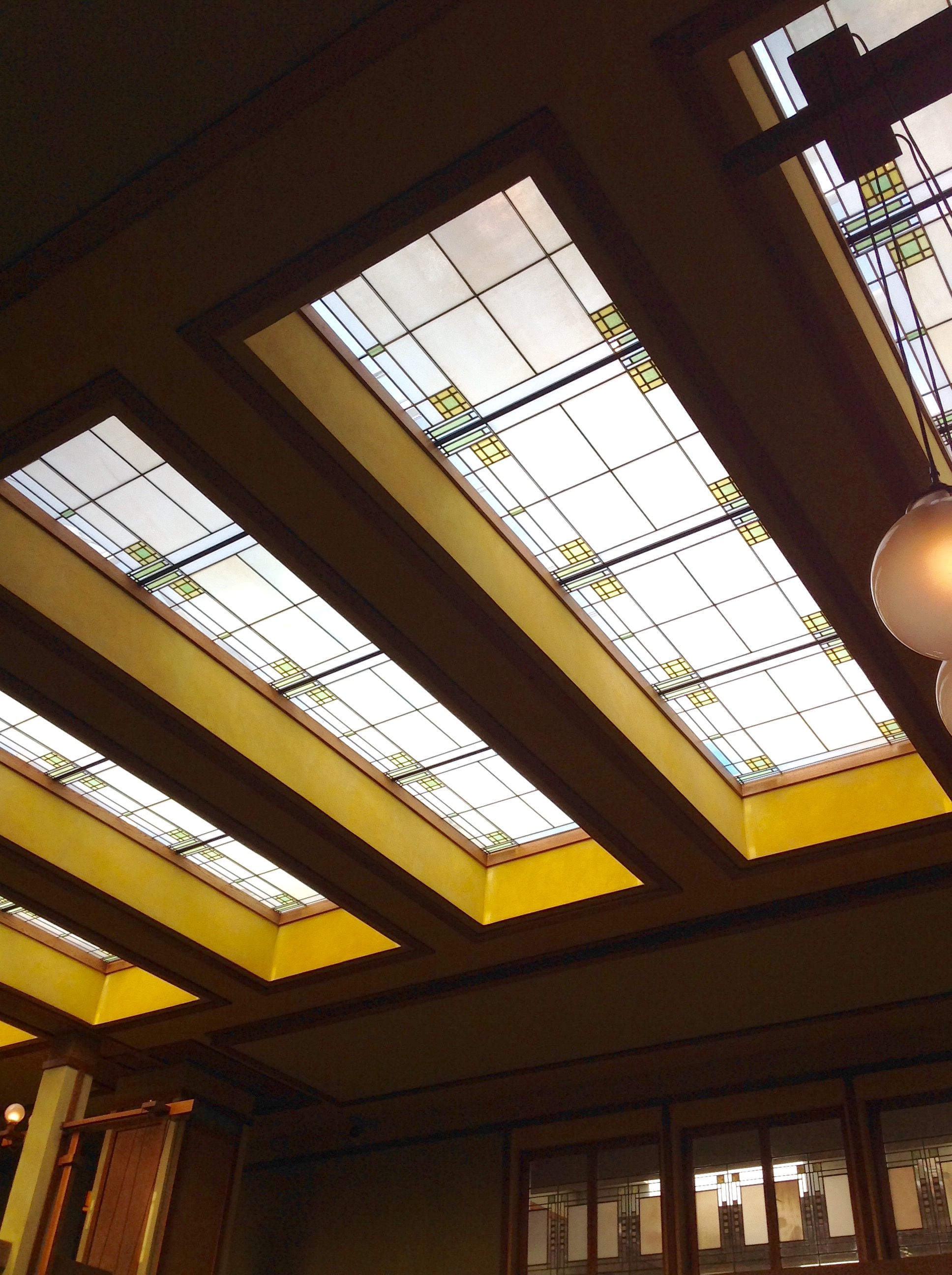 Sunday school wing skylights