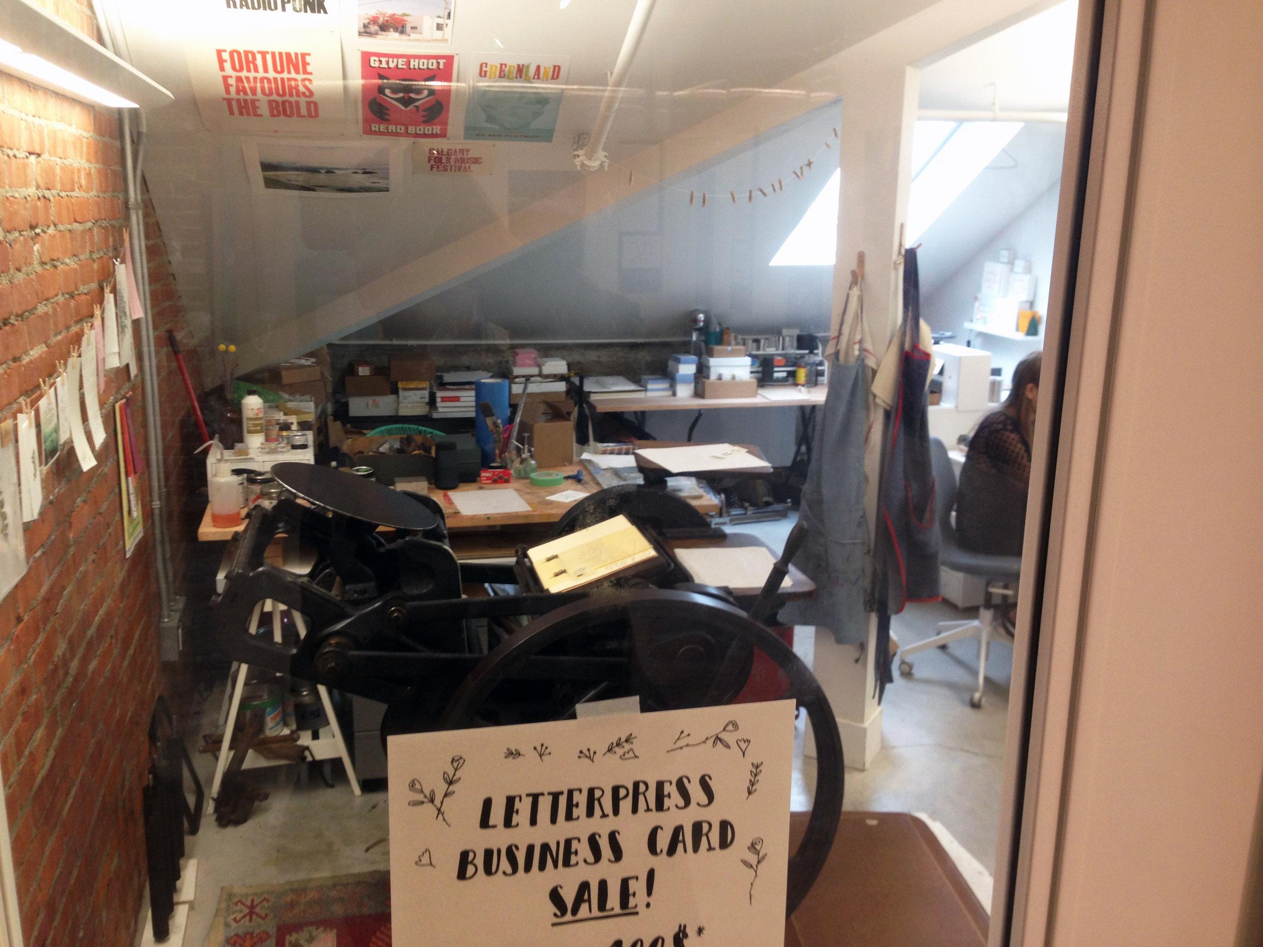 Artists attic studio