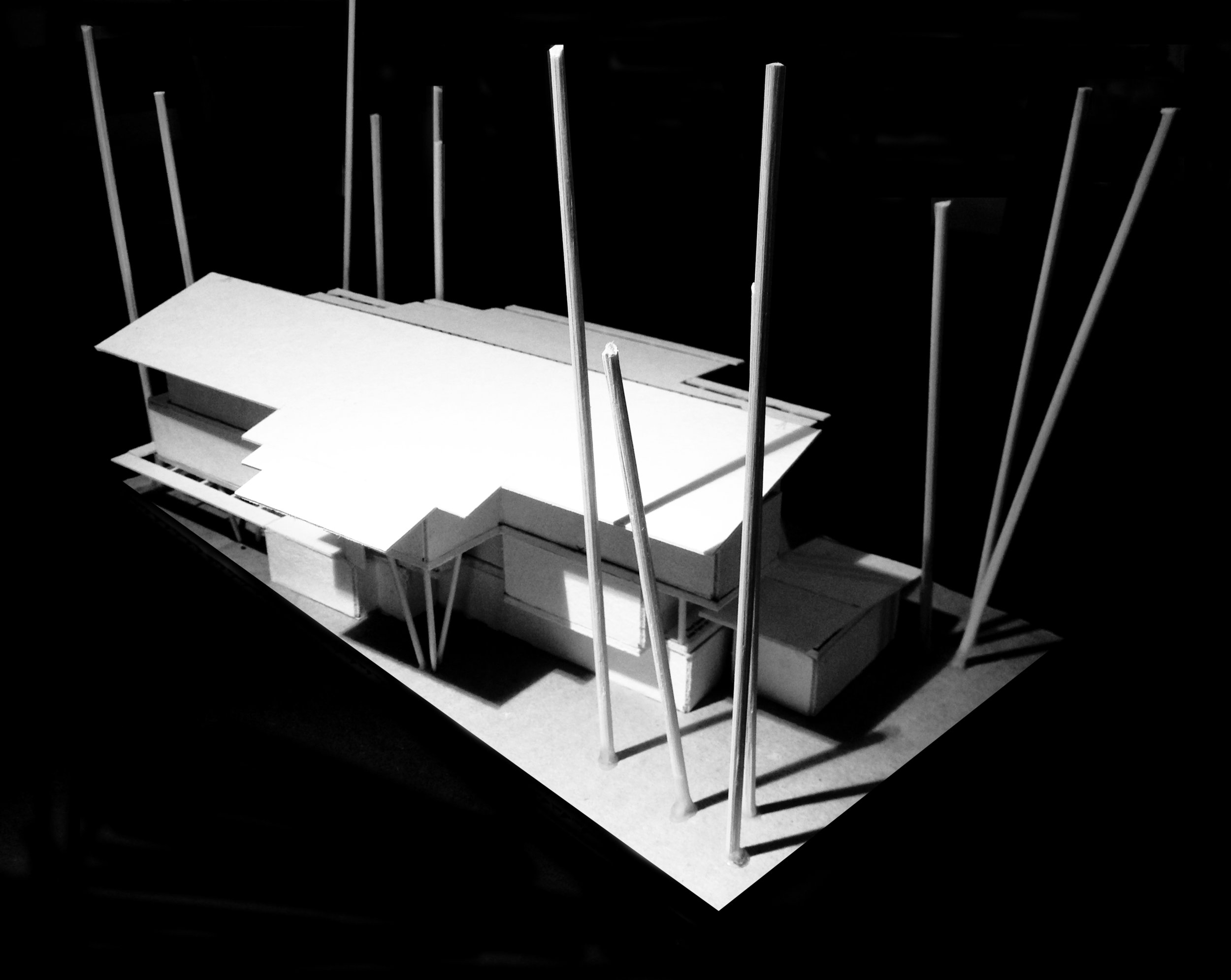 3 Storey Building design model - South End Looking North