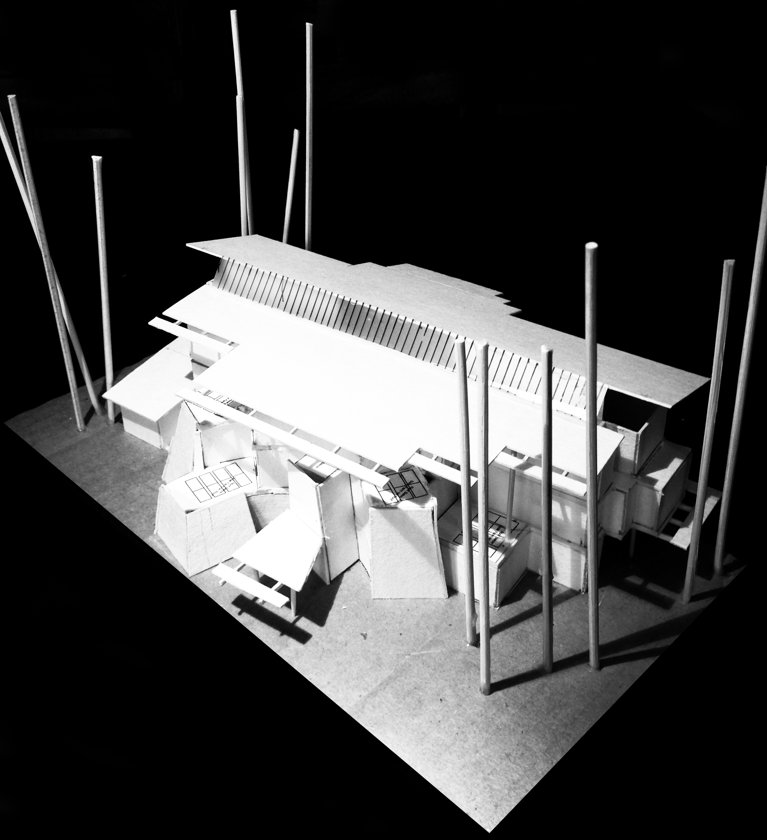 3 Storey Building design model - Front Looking from North to South