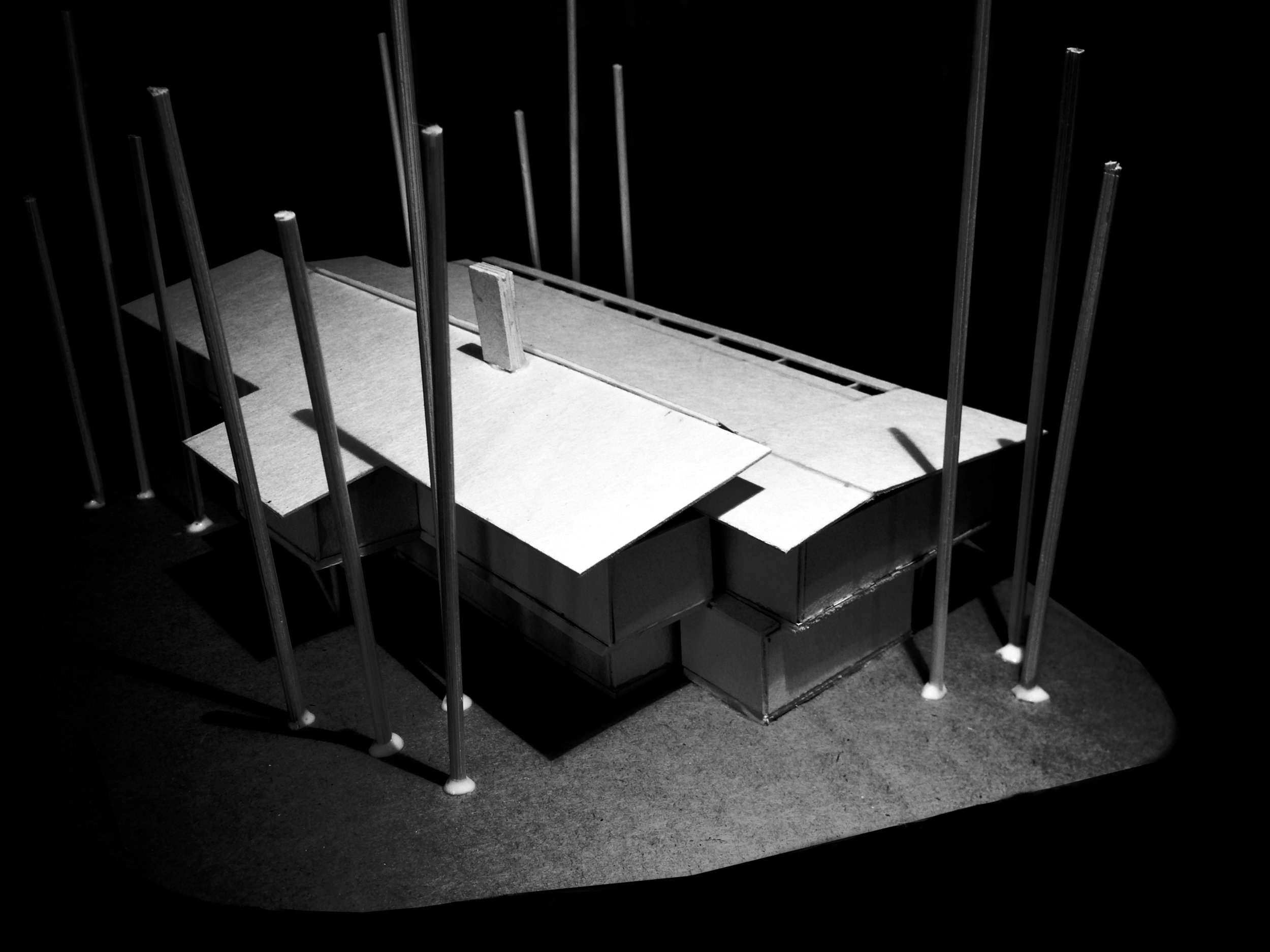 2 Storey Building design model -  South End Looking North