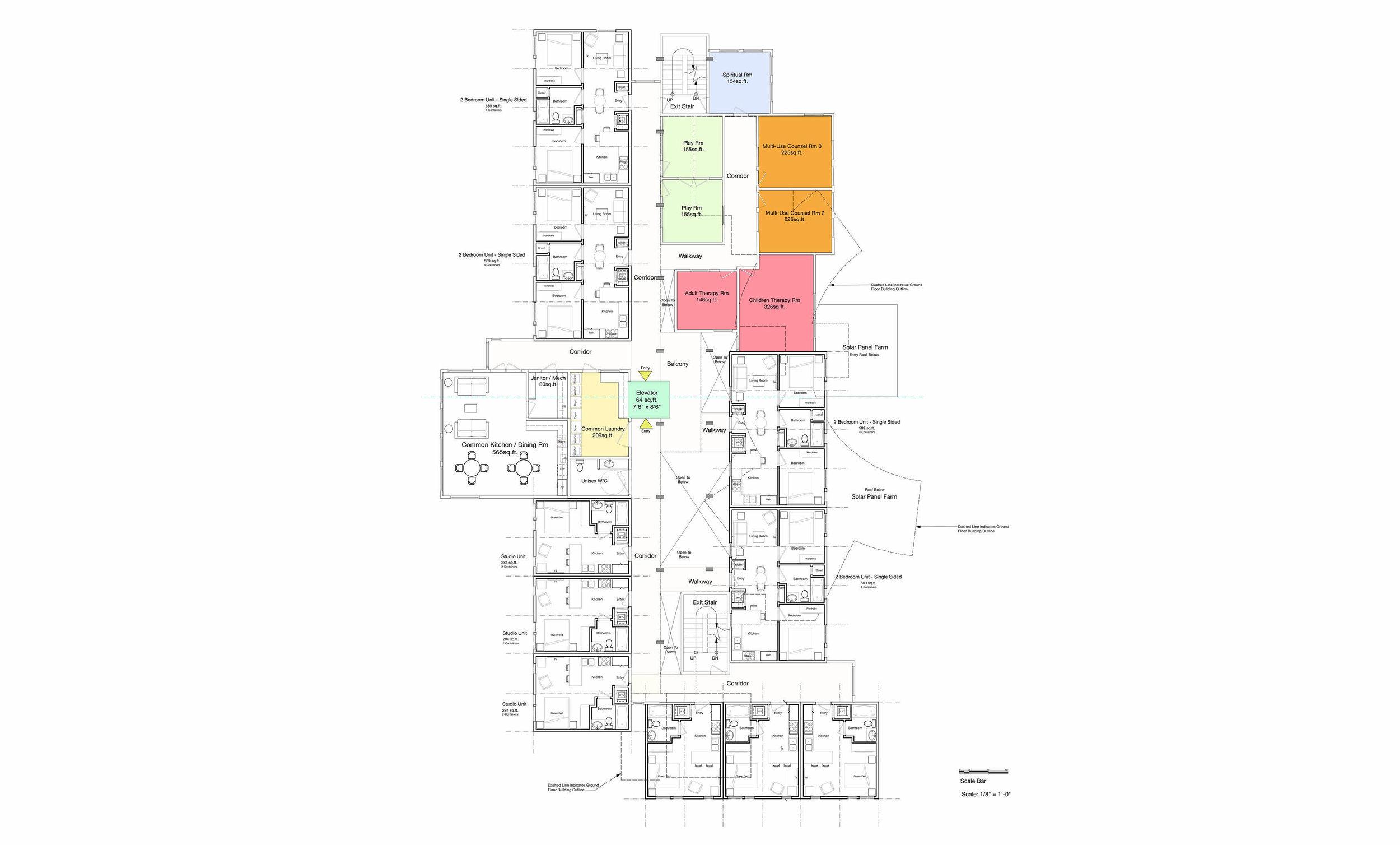 Higher Ground -Alternate Second + Third Floor Program consolidated on Second Floor
