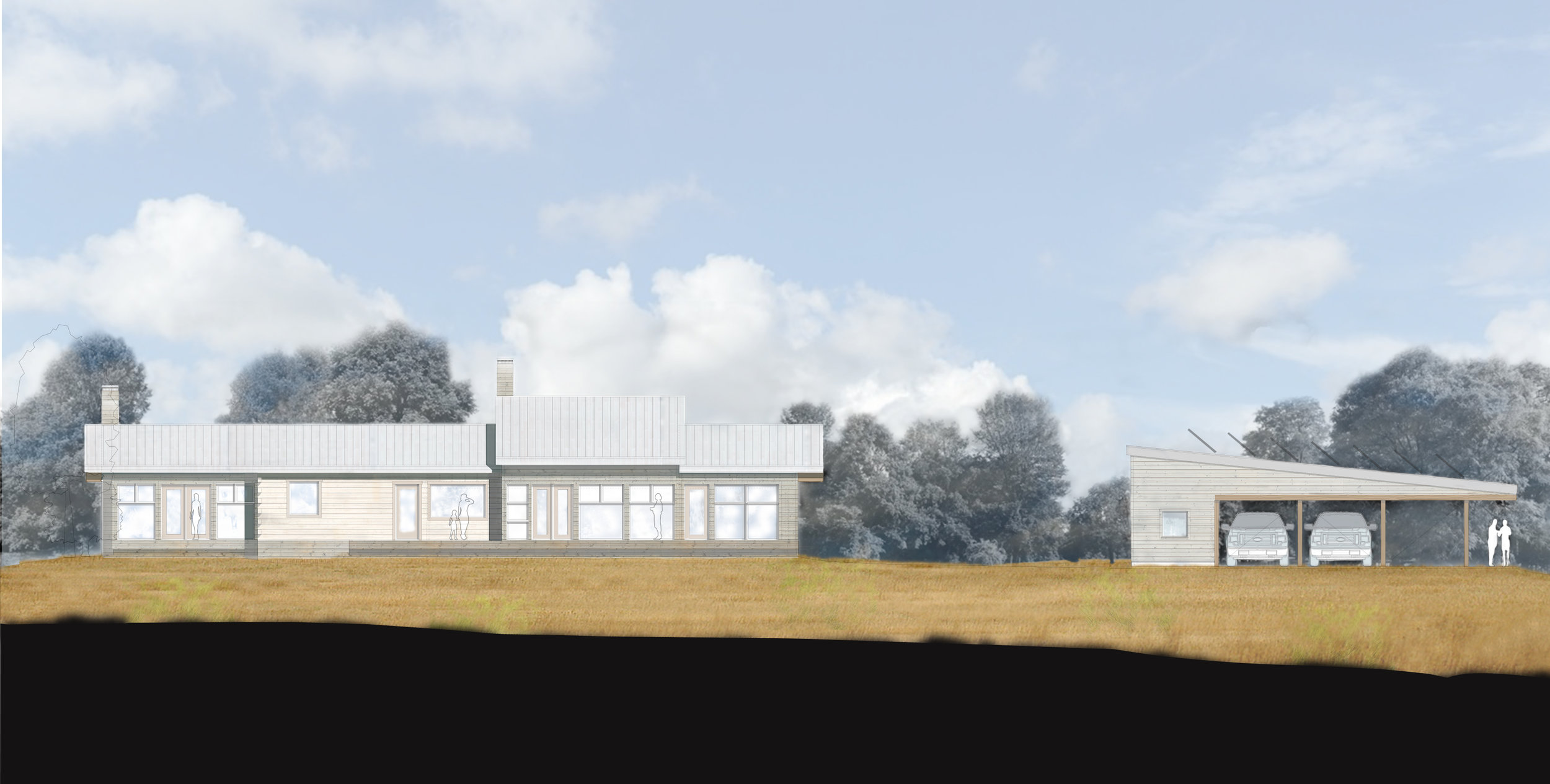 West Elevation Rendering