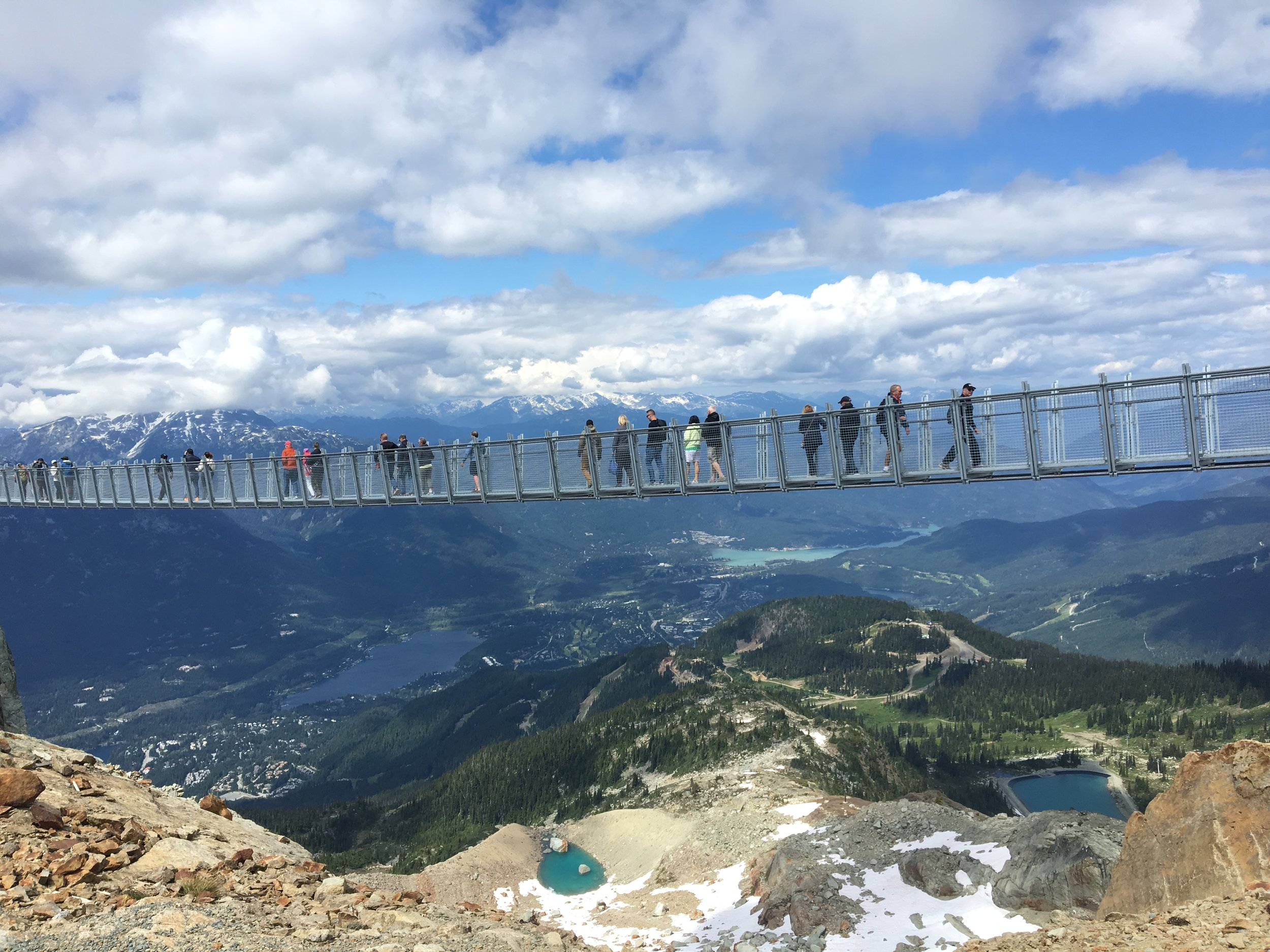 Whistler's newest attraction, the suspension bridge at The Peak.
