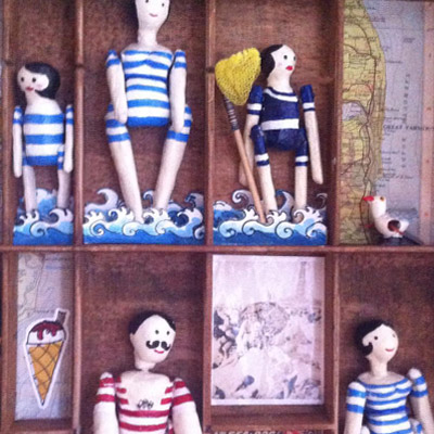 I do like to be by the seasode, mixed media