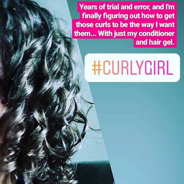 Curly hair is basically a hobby...all the curly girls understand it's a PROCESS to take care of it without it being a frizzy tangled mess. My routine that works for super fine hair is to cleanse the hair and roots daily with a super healthy conditioner, and scrunch wet twice with a healthy strong gel. I think it's basically the #curlygirlmethod 💁
