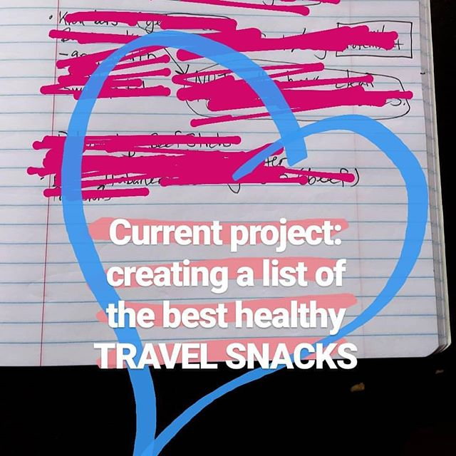 🙋‍♀️What are YOUR favorite travel snacks and travel necessities? I'm #dreamingoftravel as I prep for a Nutrition Session with a client. ✈️✈️✈️