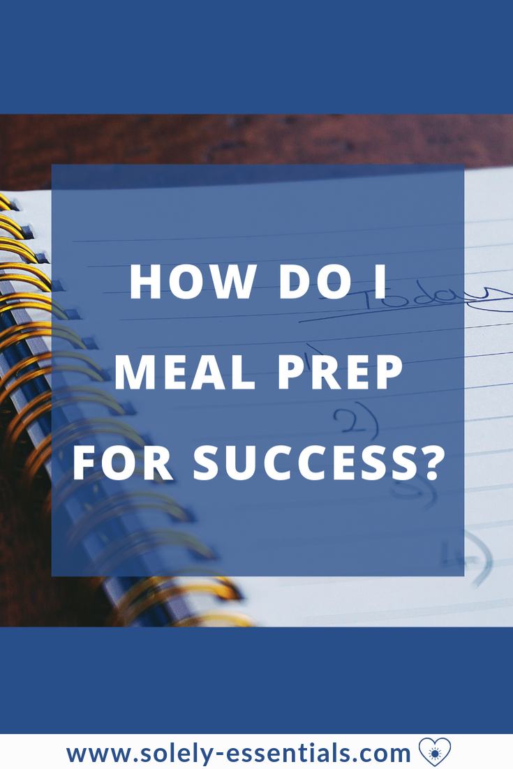 how do i meal prep for success