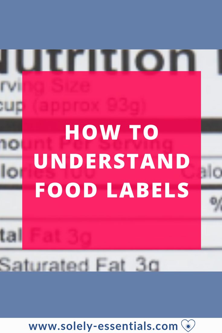 How to understand food labels