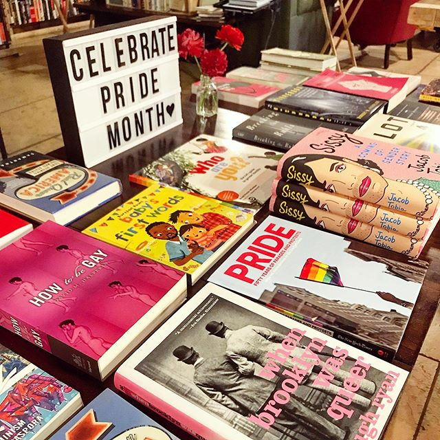 Happy Pride!  @roughdraftny has a great selection of LGBTQ books to celebrate — fiction, memoir, history, and kid lit. 🏳️‍🌈🏳️‍🌈🏳️‍🌈🏳️‍🌈🏳️‍🌈 . . . . #worldpride #pridemonth #celebratepride #bookstore #roughdraftny #bookshop #bookcovers #booktable #indiebookstore #readerlife #booklife #igreads #allthebooks #bookstoread #tbr #toread #bookshopping #readingtime #bookstack #bookpile