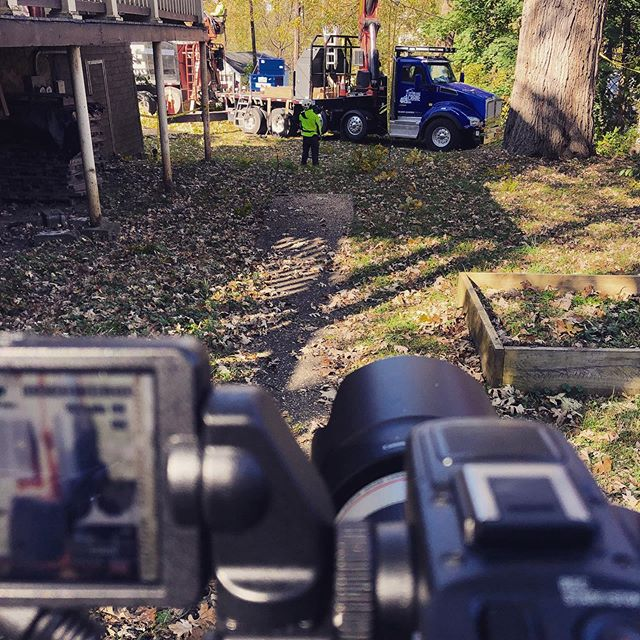 Filming for @cutting_edge_tree_pros and @jewels_durkin ! #sonyfs5 #videoproduction
