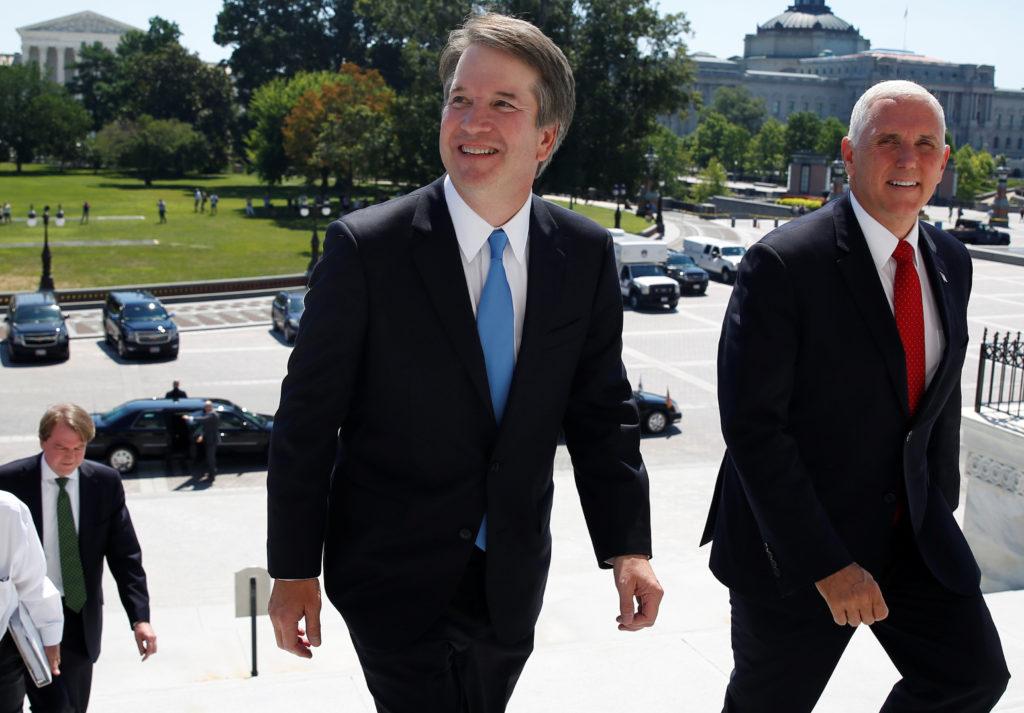 Judge Brett Kavanaugh and Vice President Pence