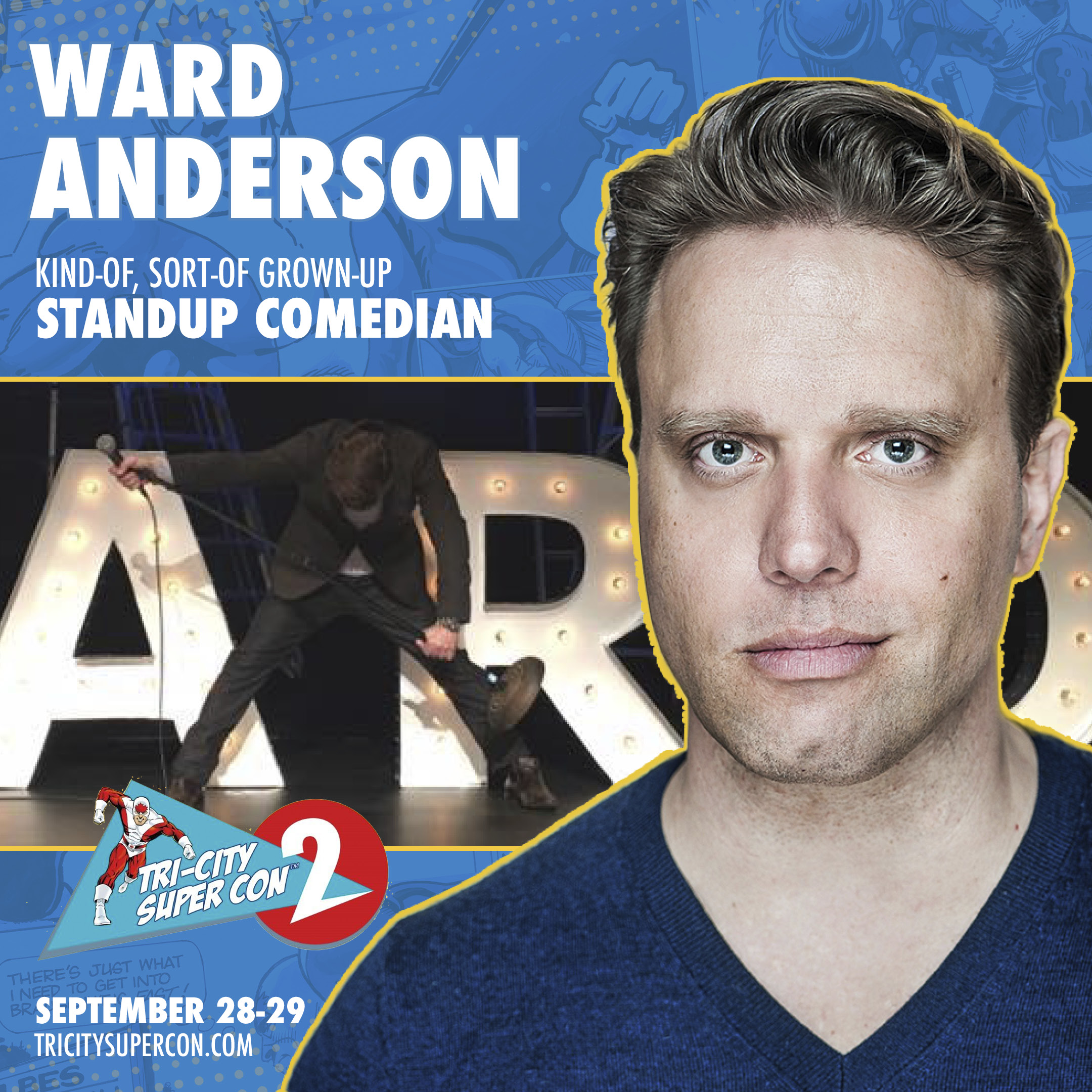 "Ward Anderson   is a writer and producer, known for  Vitals  (2017),  Ward Anderson: Kind of, Sort of, Grown-Up  (2017) and  Offstage with Ward Anderson  (2017). Ward Anderson is an award-winning comedian, author, director, TV and radio host. For five years, he was co-host of the talk radio program ""Ward and Al."" He has performed all over the world in a career that has spanned two decades and across several different platforms. He has appeared in his own stand-up TV special and his talk show, Offstage with Ward Anderson, can be seen on Bell Digital Media and Amazon Prime. A Canadian Comedy Award nominee, Anderson's two novels are available wherever books are sold"