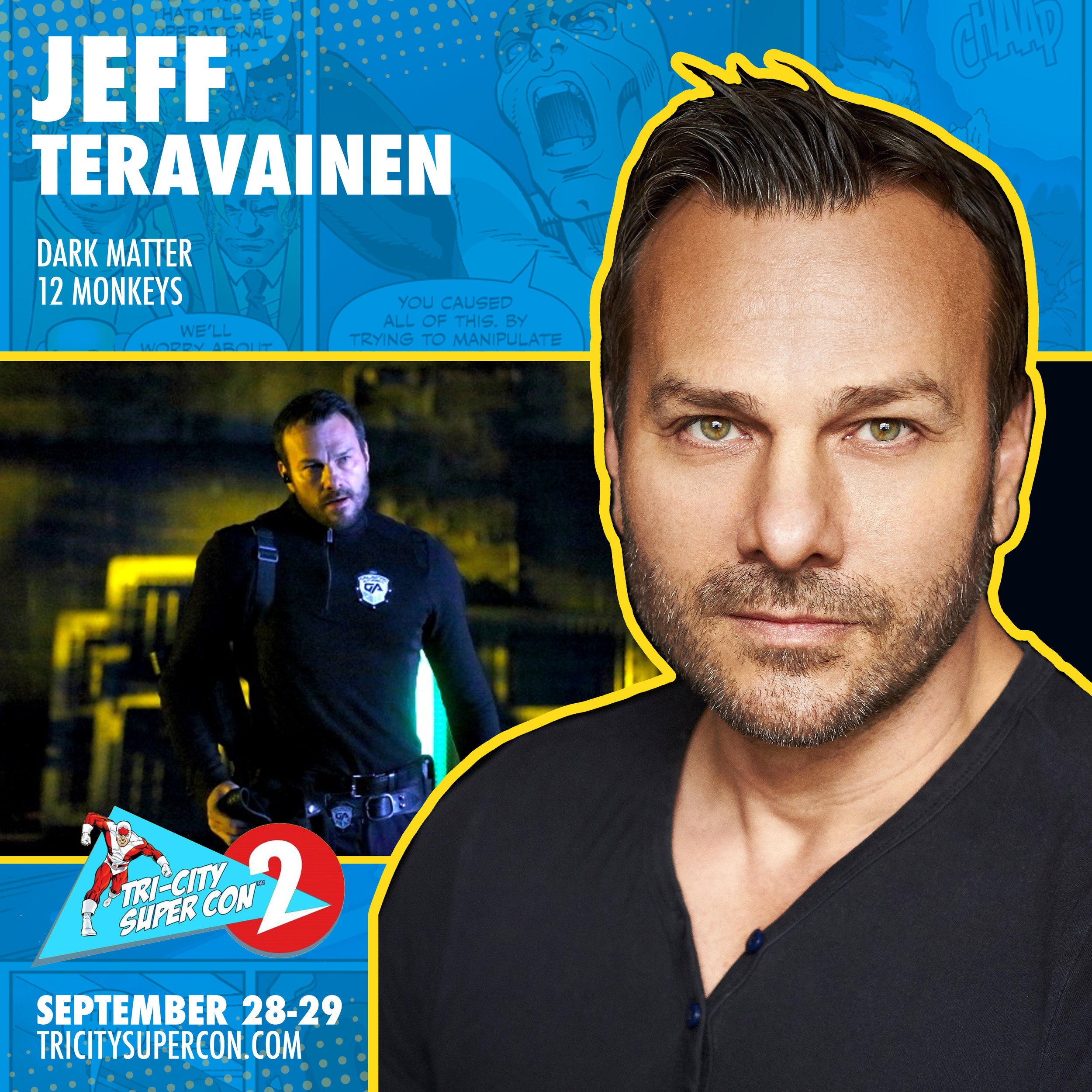 "Jeff Teravainen   is best known for his recurring roles on the TV show   Dark Matter   as Lieutenant Ander and as Agent Stack on   12 Monkeys  . He gained attention as the main bad guy in 2018's "" The Christmas Chronicles"" on Netflix. He is also known as the ""Voice of the Olympics"" for Canadian broadcaster CBC in the 2006 Turino Winter Olympic Games, as well as the 2014 Sochi Winter Olympic Games. In 2014, he was also the ""Voice of the 2014 FIFA World Cup"" in Canada. Jeff also voiced the Intro to CBC's Hockey Night in Canada for 2 years. Jeff has voiced many characters for best selling video games like   Far Cry 5   as Walker and various cult soldiers.   Tom Clancy's Splinter Cell: Blacklist   in various roles and   Far Cry 2   as Walton Purefoy. In 2019 Jeff is a series regular in the upcoming drama "" Utopia Falls"" soon to be released in early 2020."