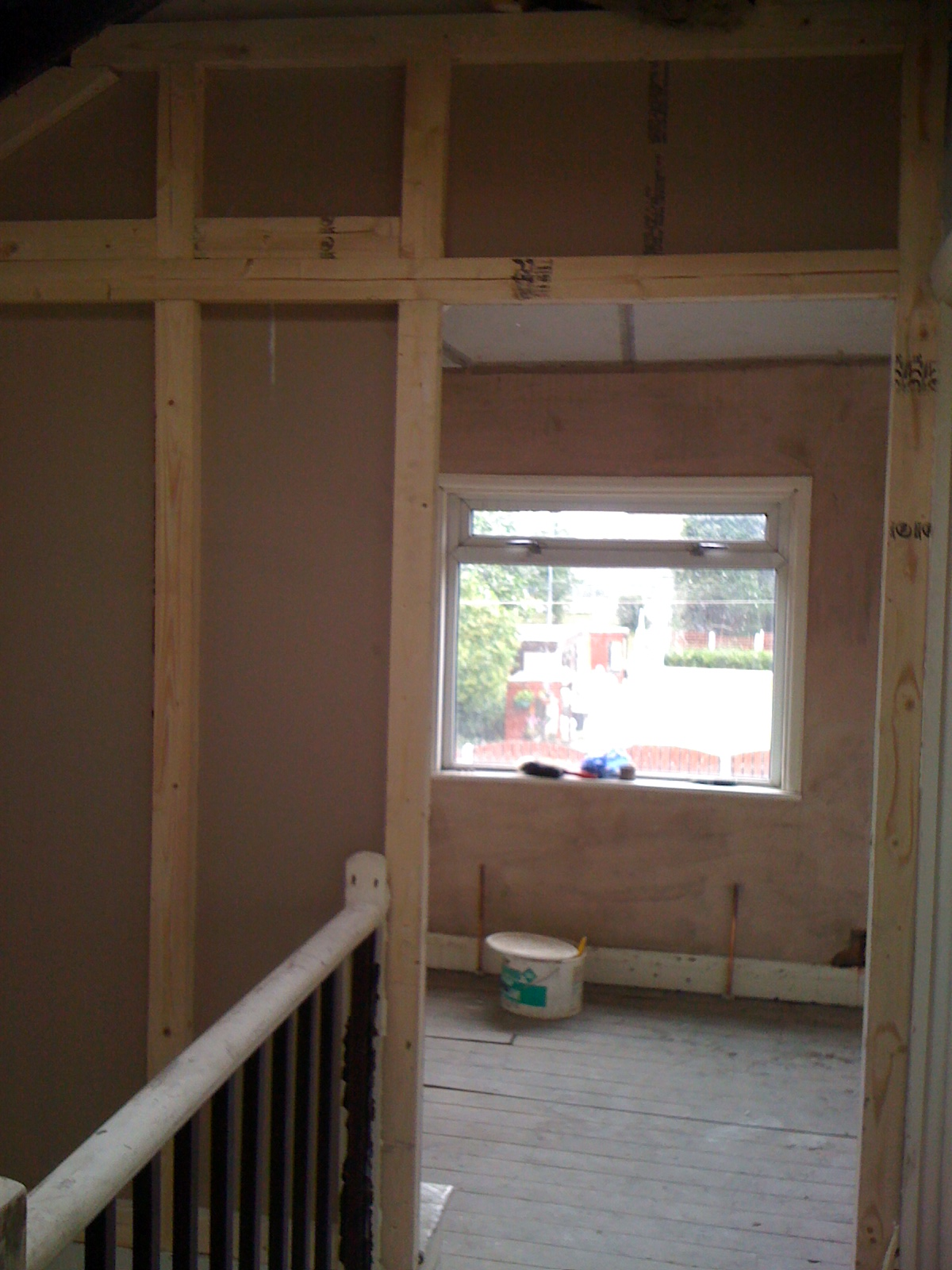 Studframe work and boarding