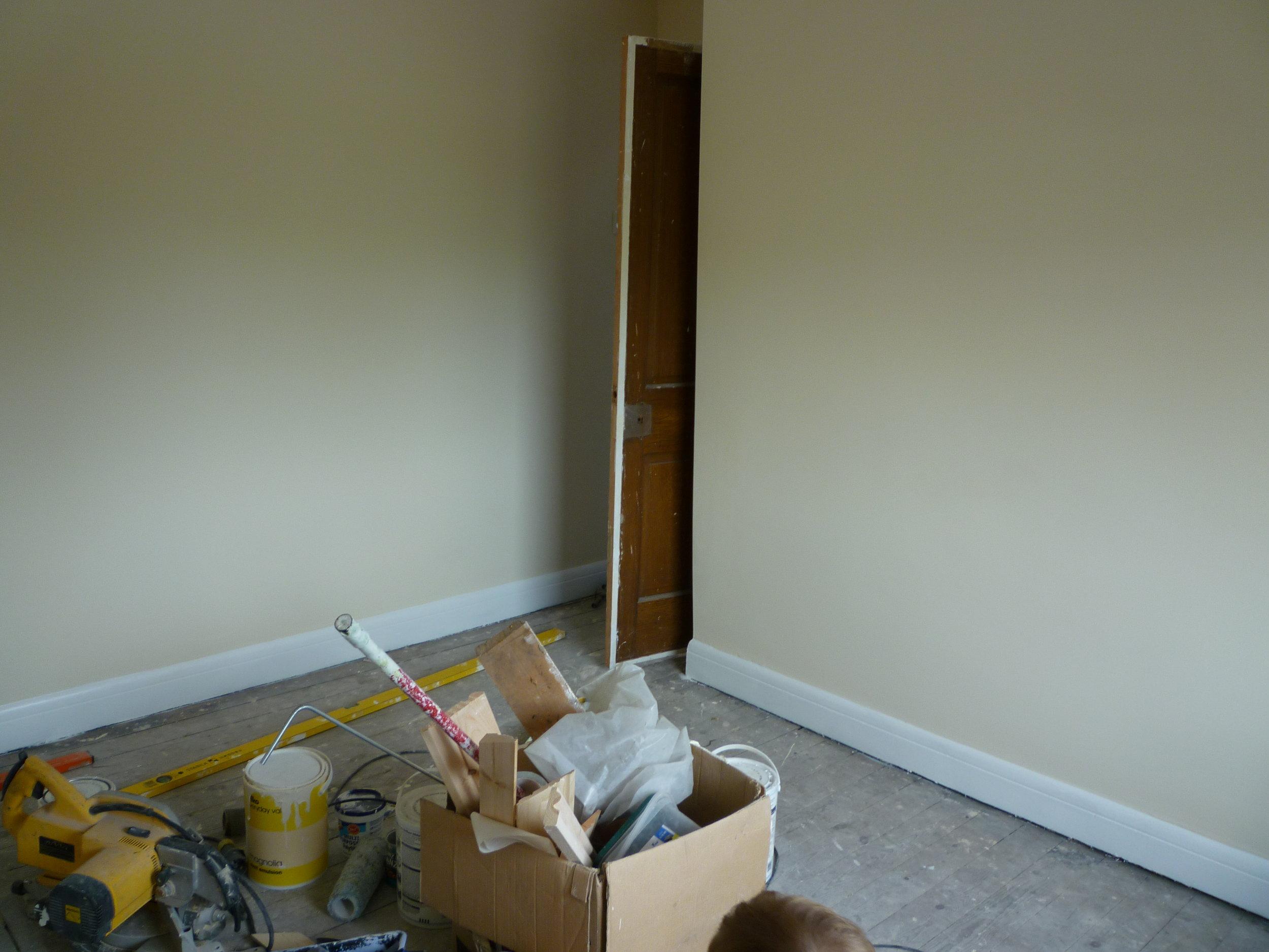 Plastered room