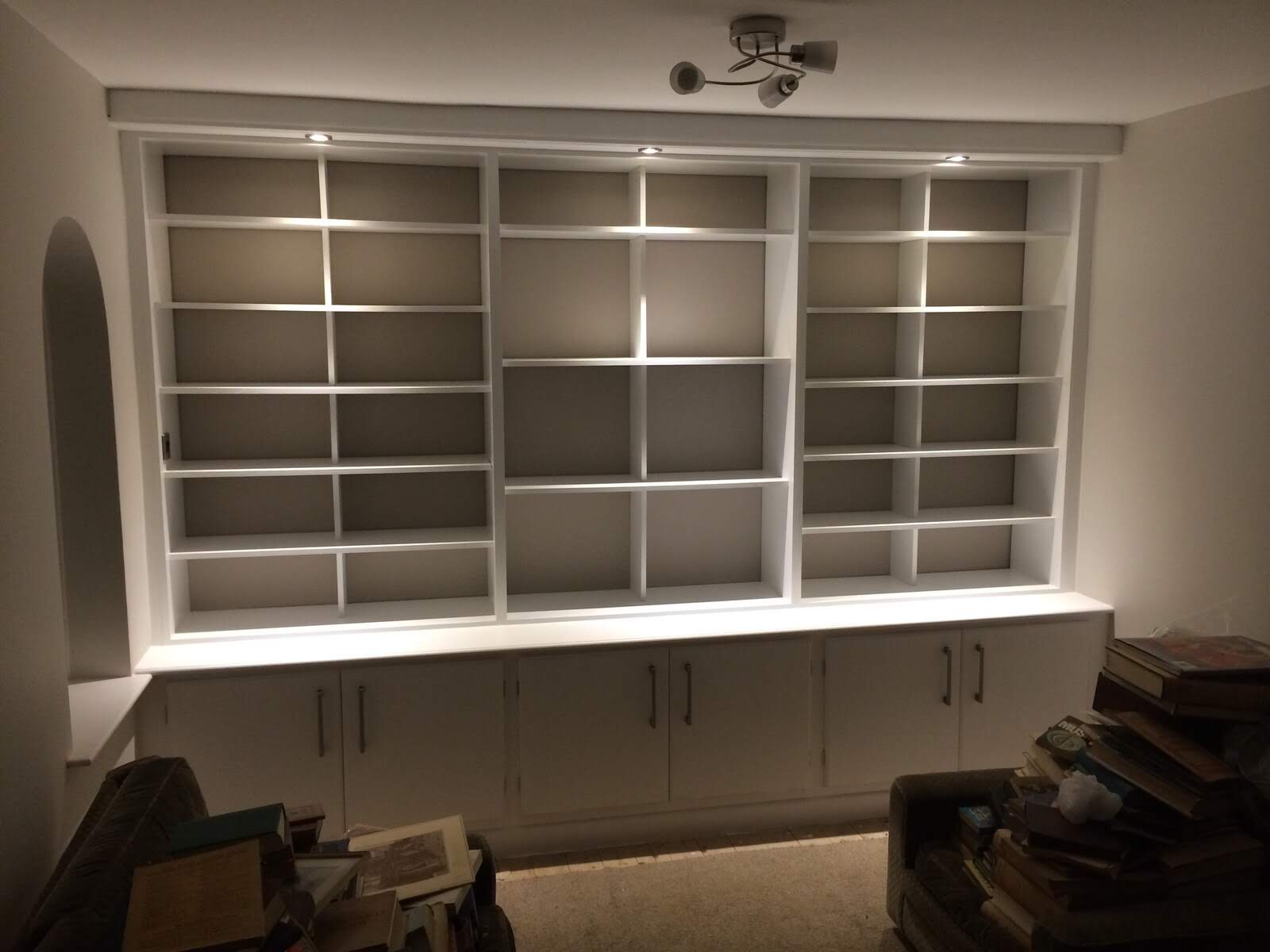 Bespoke shelving and cupboards