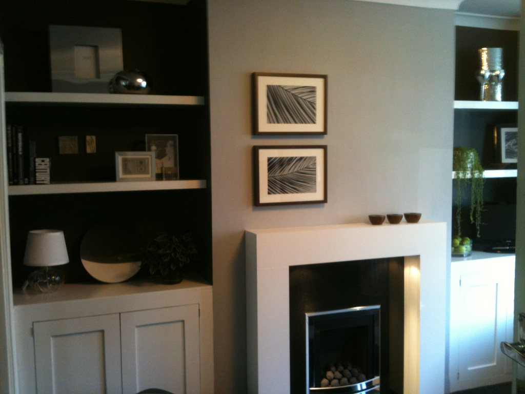 Storage units with internal shelving - Alcove shelves fitted for decoration and storage purposes