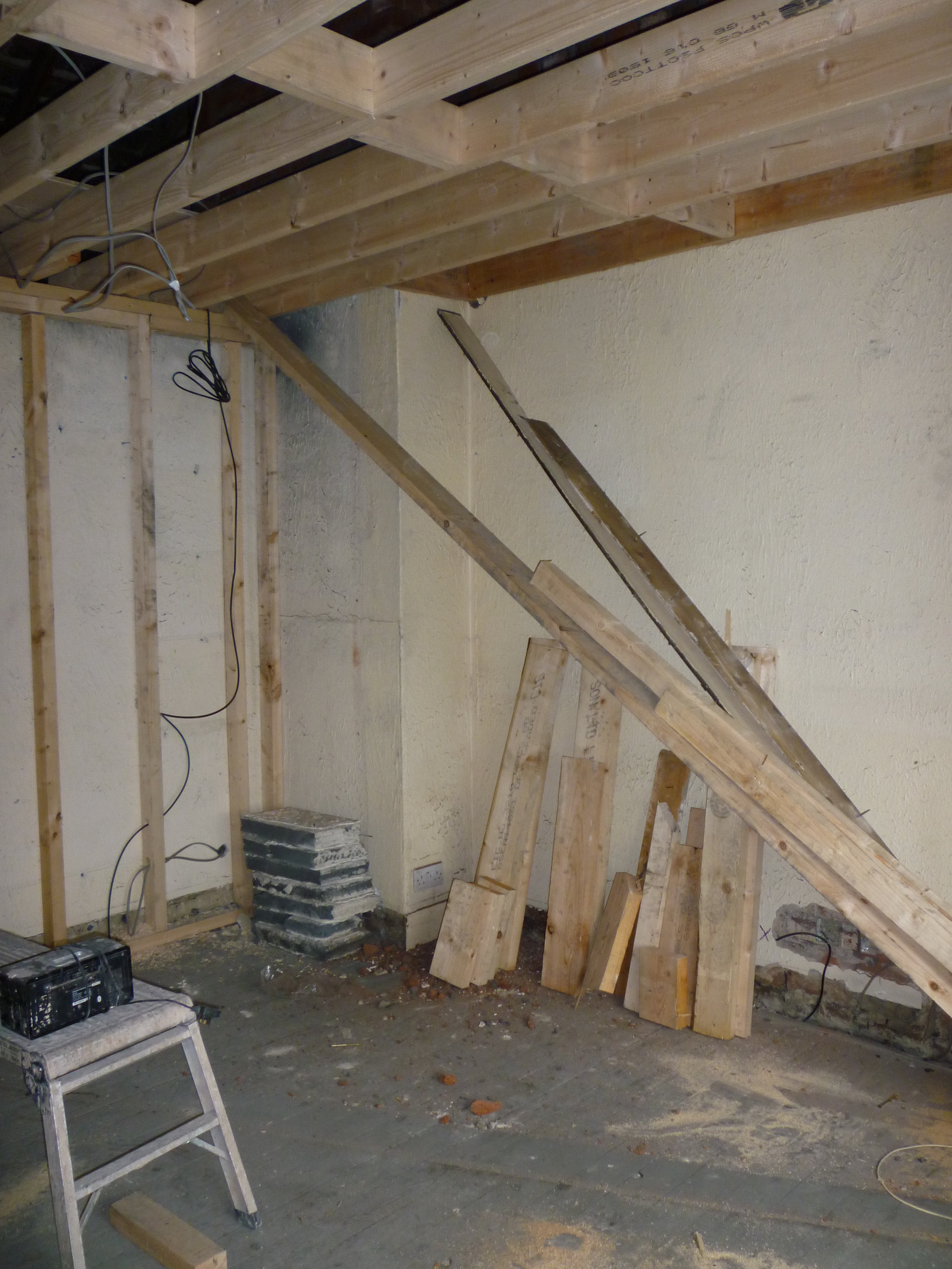 Joists, ceilings and flooring - Joists fitted and re-enforcing current joists when installing new ceilings / flooring