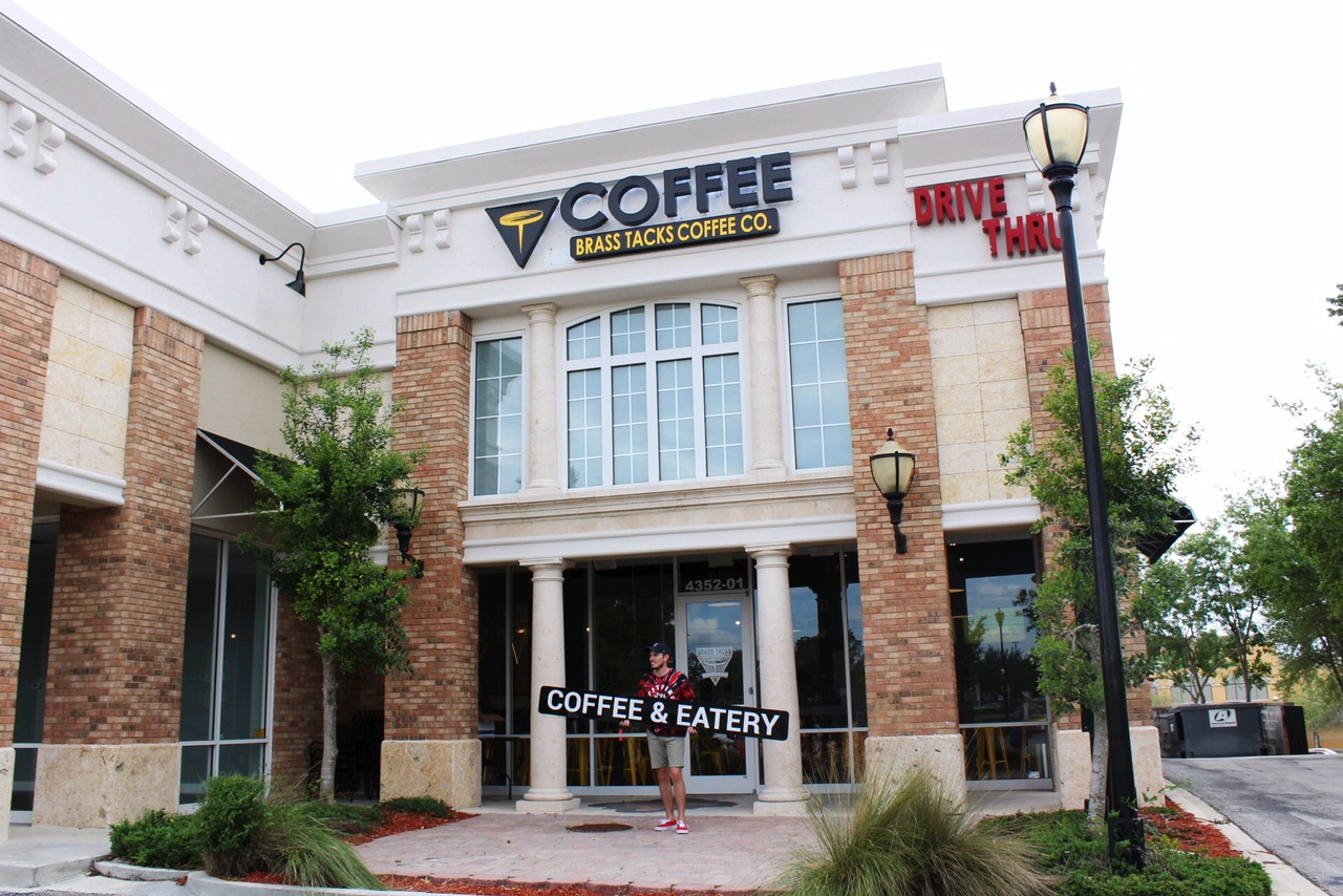 Brass Tacks Coffee Co. Southside Cafe - 4352-01 Southside Blvd. Jacksonville, FL, 32216HOURSMonday-Thursday: 7 am - 8 pmFriday & Saturday: 7 am - 10 pmCall: (904)423-0011Email: info@brasstackscoffee.com