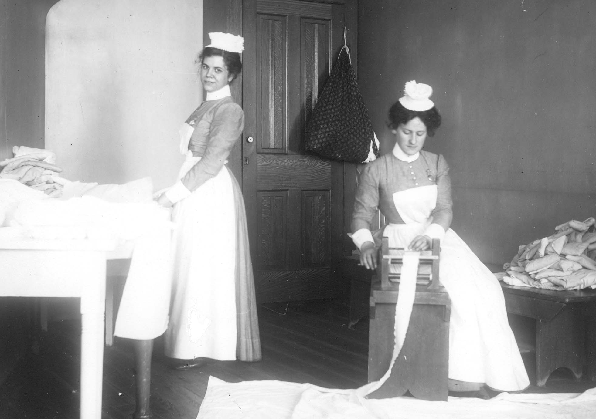 Nurses Rolling Bandages 1890's