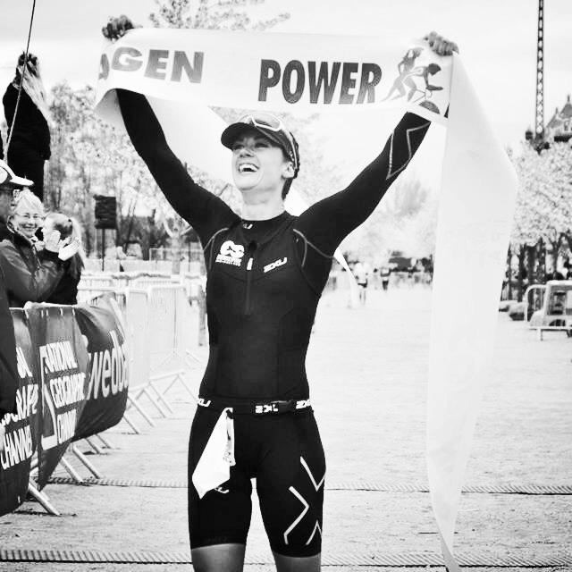Teresa winning Powerman 2016