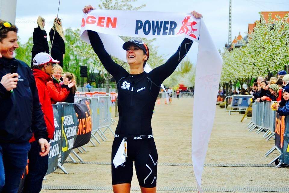 Teresa winning Powerman Denmark