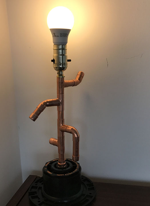 Light fixtures designed with copper pipes  Soldered Copper pipes  2017