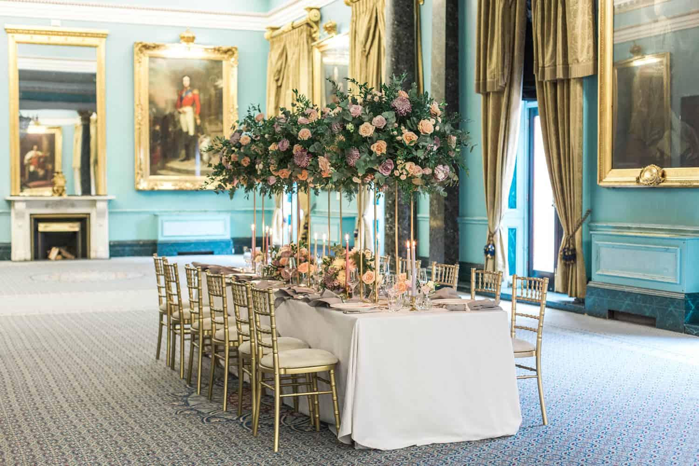 Grand floral centrepiece by Miriam Faith. (   Claire Graham Photograhy   )
