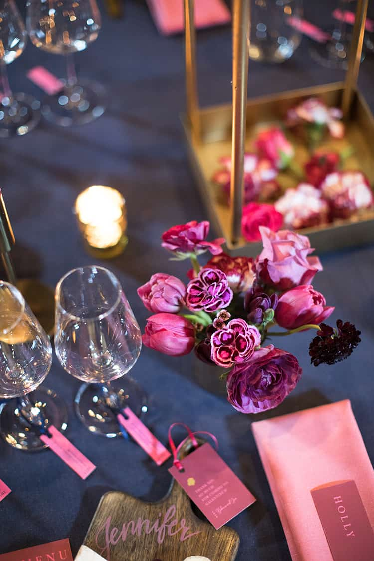 Hot pink details gave the event a fun and eye-catching theme