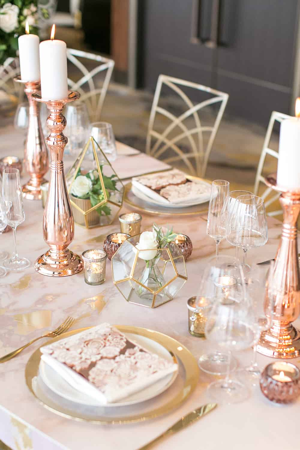 Gold and copper details are still a big theme for event styling