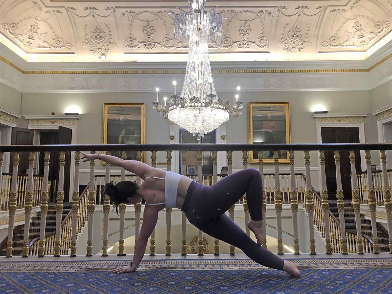 Alyssa yoga staircase