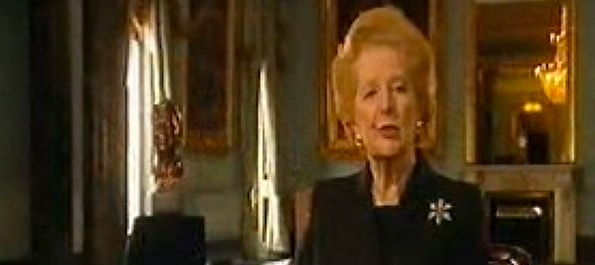 MargareThatcher eulogy for Ronald Reagan filmed at 116 Pall Mall