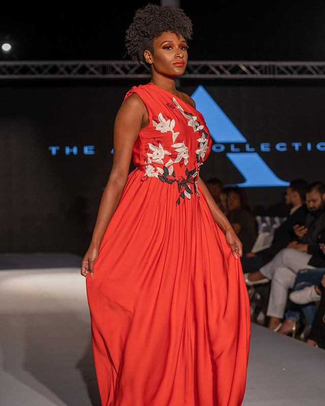 NYFW SS20 | TIME TRAVELERS Model: @lovemileyha  Production: @thesocietyfashionweek Photography: @kaishotz  Hair and Makeup: @teammcosta  #theammecollection ##fashionphotography  #redgown #runwayfashion #fashiondesign #redlip #garmentconstruction #nyfw #ss20 #style #elegance #runwaymodel #naturalhairstyles