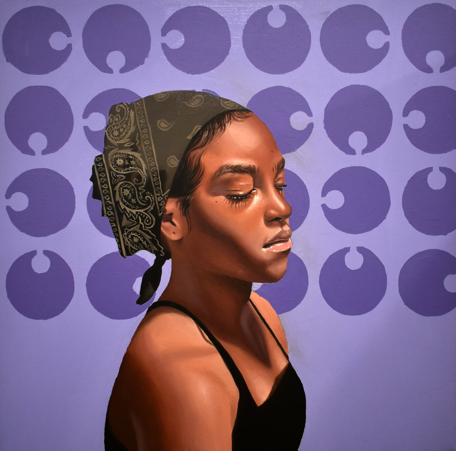 """Monica Ikegwu's work is structured upon the portraiture and depiction of African Americans… Her work brings to focus subtleties that she notices in the black community, as well as her personal life...Taking feelings and aspects from her surroundings, she presents them in a way that is not only captivating but also unconventional."""