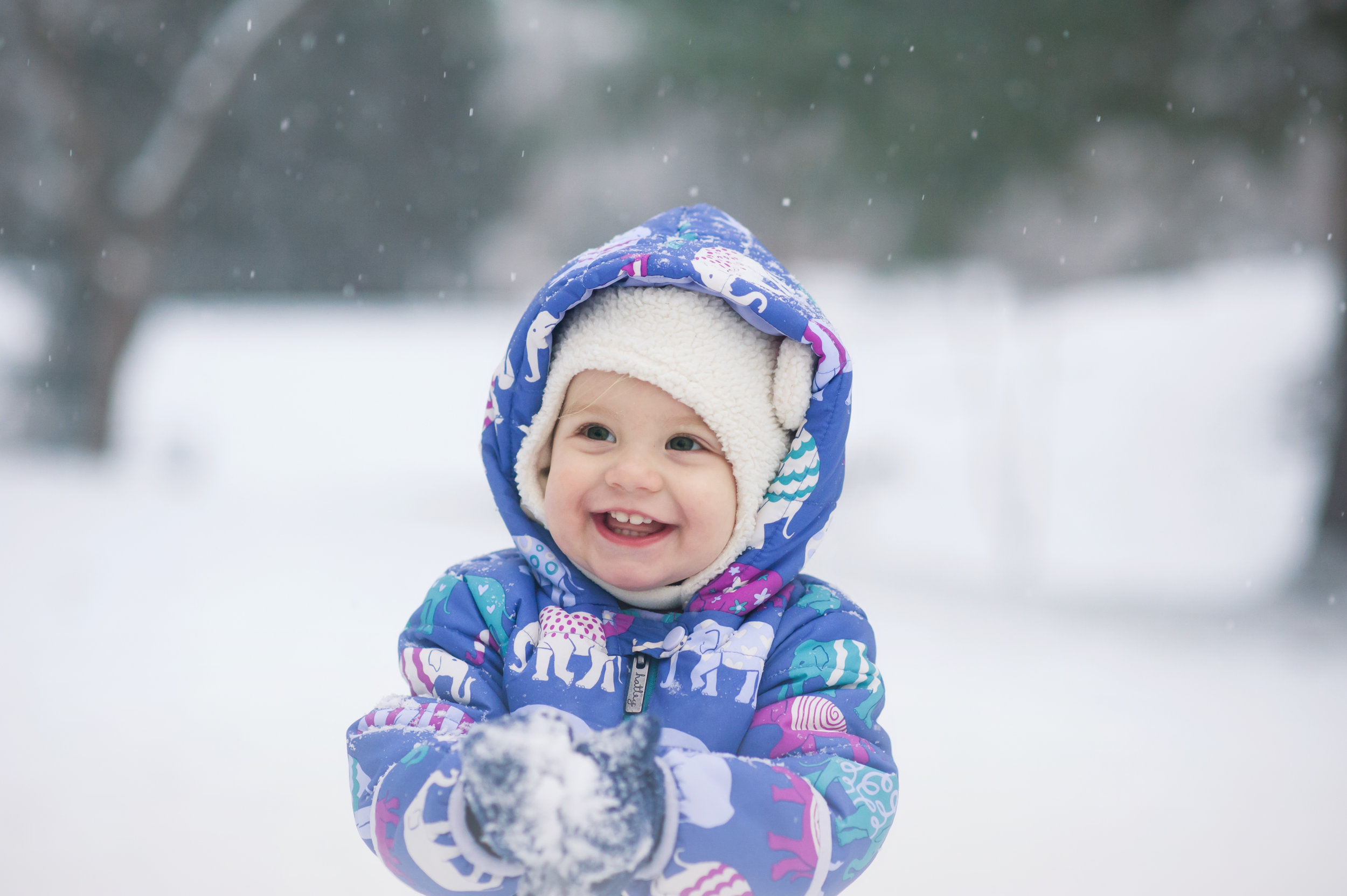 I guess she sort of liked the snow ;)  Photo credit  Alexis El Massih Photography
