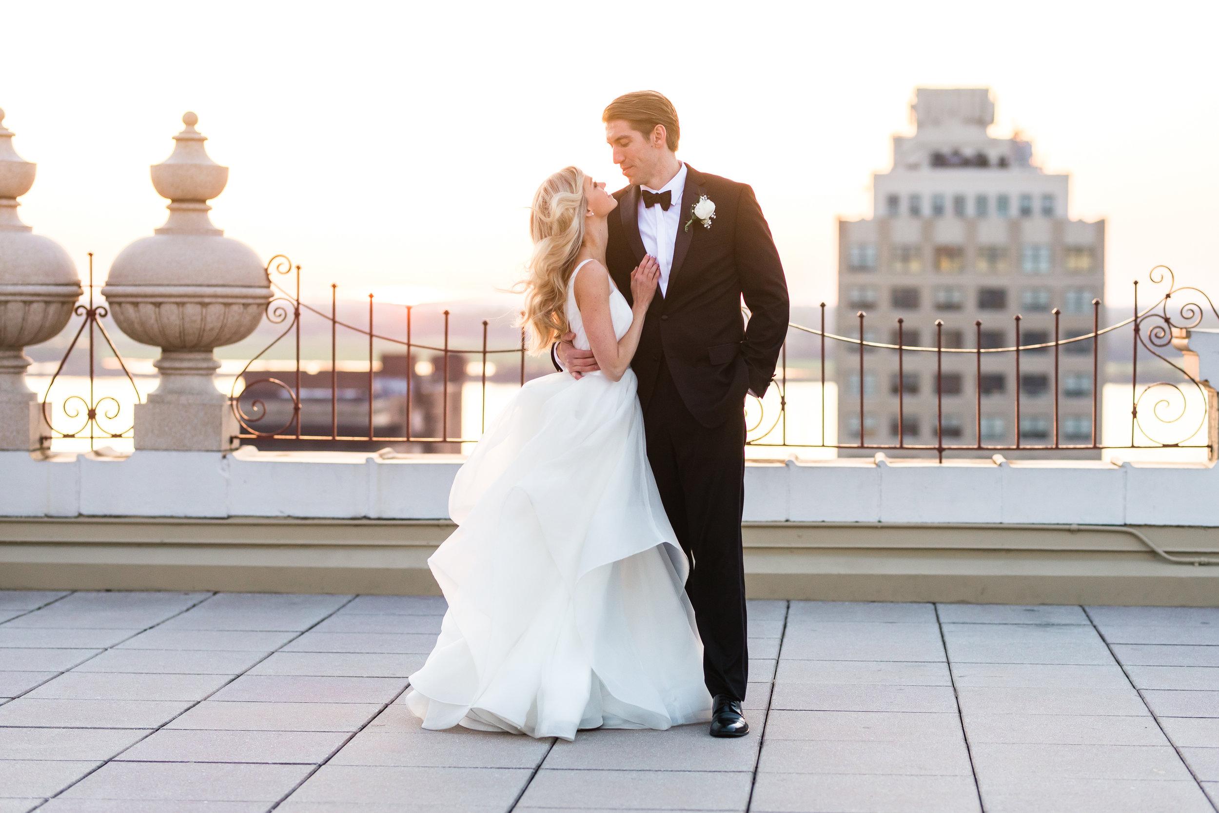 Rooftop Romance: Real Wedding