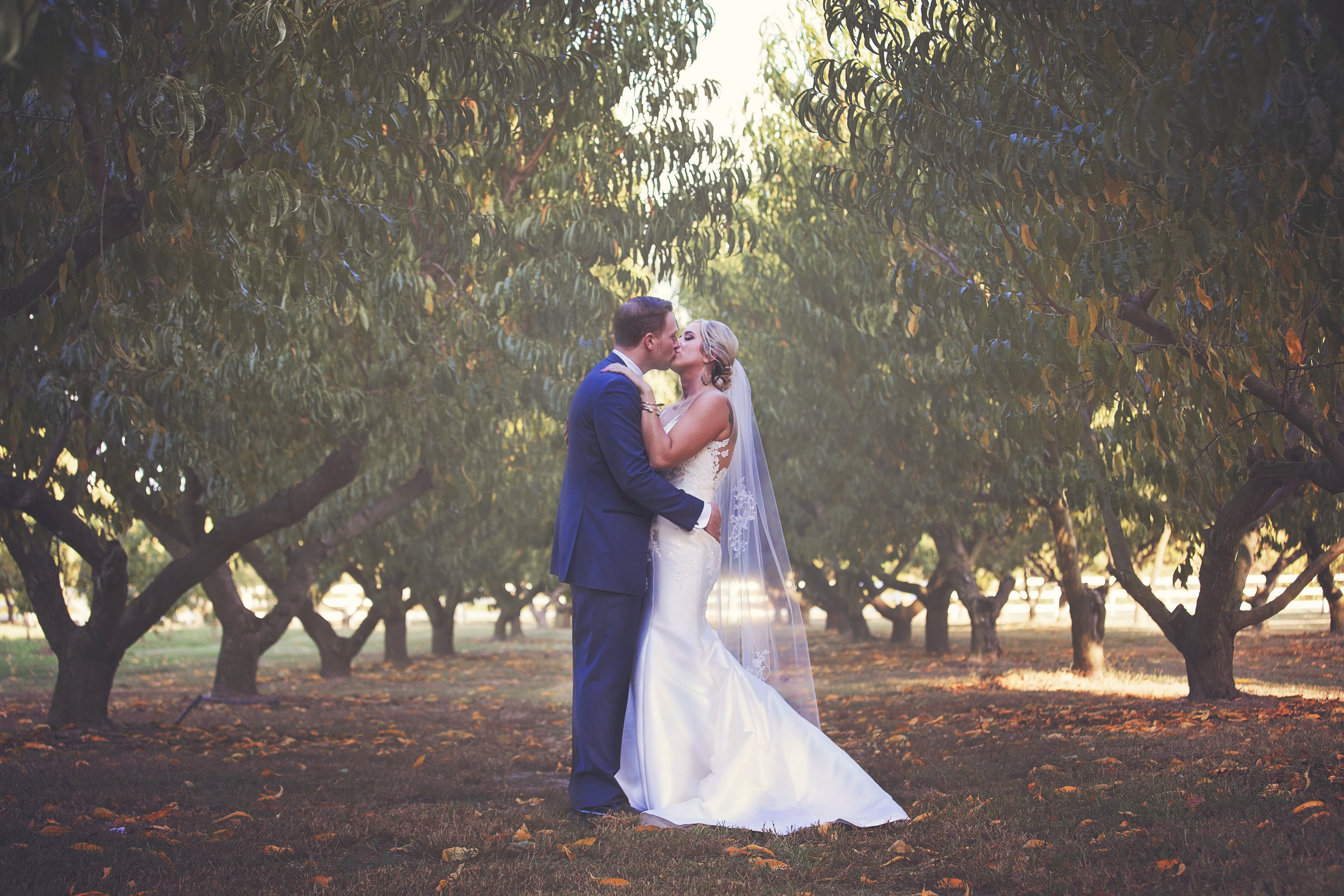 Peach Orchard Charm: Real Wedding