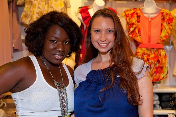 Project runway tv personality and little rock fashion designer, korto momolu with Meredith events owner, meredith corning at the inaugural divas dressing darlings event.