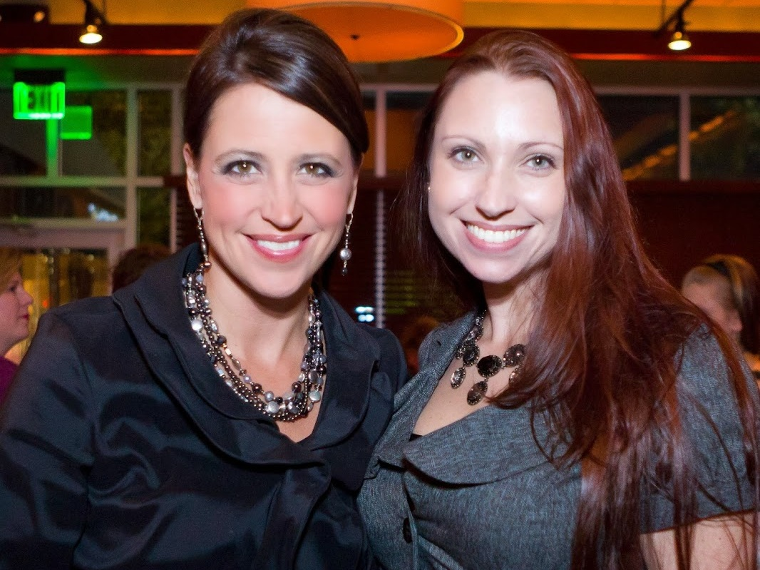 THV 11's Dawn Scott with Meredith Events' Owner, Meredith Corning at the Your Girl Friend's Closet Event benefiting the nonprofit, women and children first.