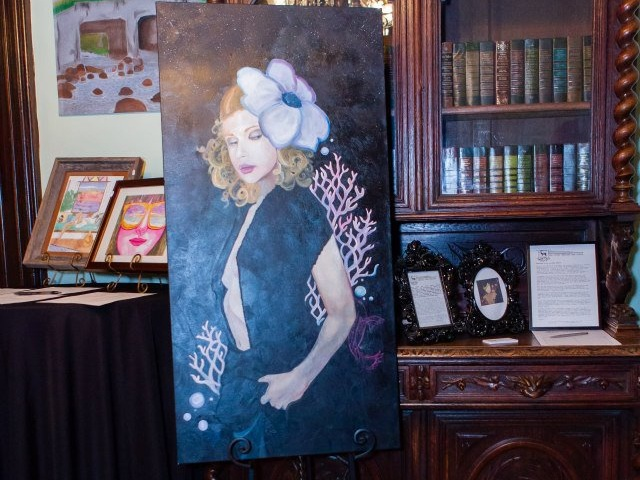 Beautiful piece of art by Conway artist, Kateri Joe. This piece was sold during the silent auction and a portion of the proceeds was given to the nonprofit, Women and children first,