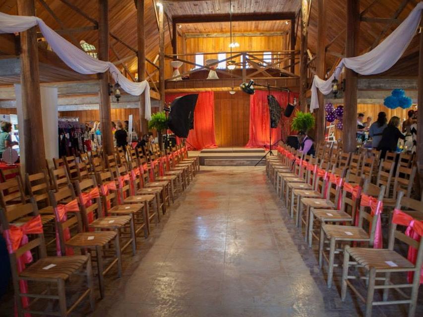 Bridal Savoir Faire Fashion show setup. This event benefited the nonprofit, The Glass Slipper Closet.