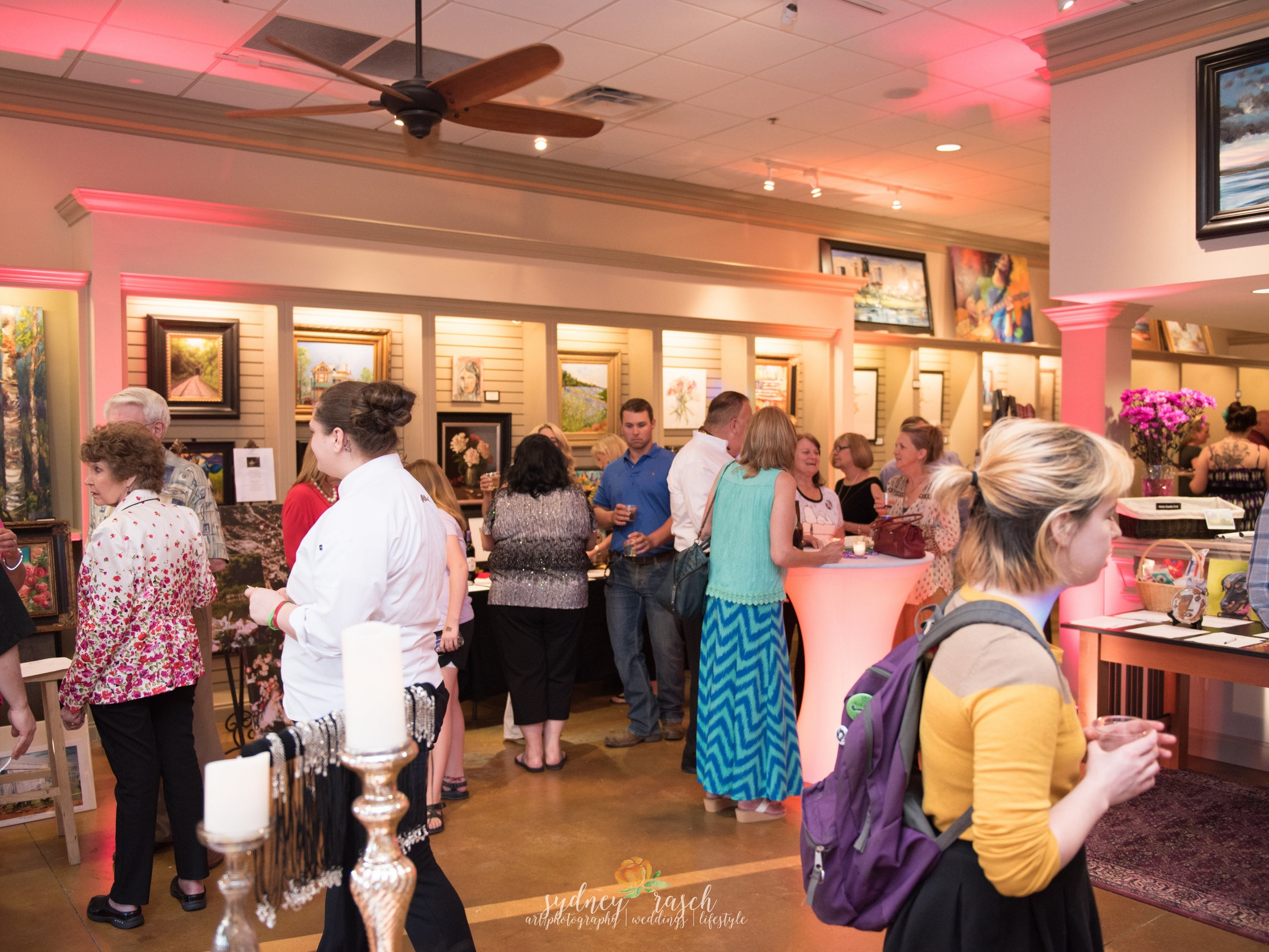The Bark show at The Art Group Gallery for the nonprofit, Southern Paws Transport. Photo by Art/Photography by Sydney Rasch.
