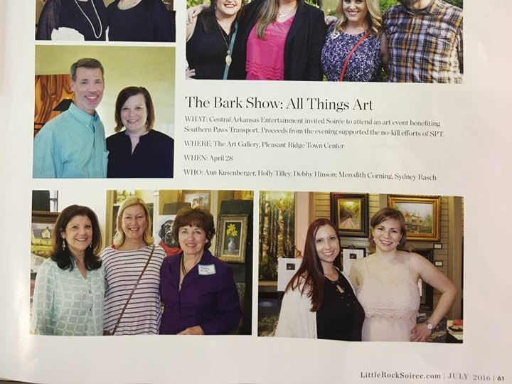 The Bark show featured in Soiree Magazine. Meredith seen here with photographer, Sydney Rasch.