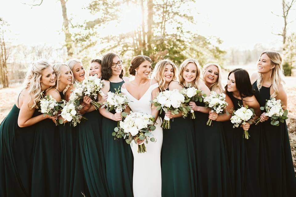 Winter Emerald Splendor: Real Wedding