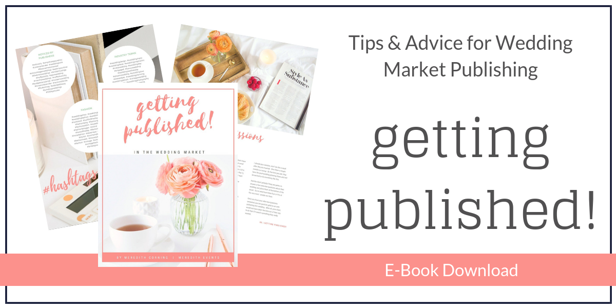 How to Get Weddings Published