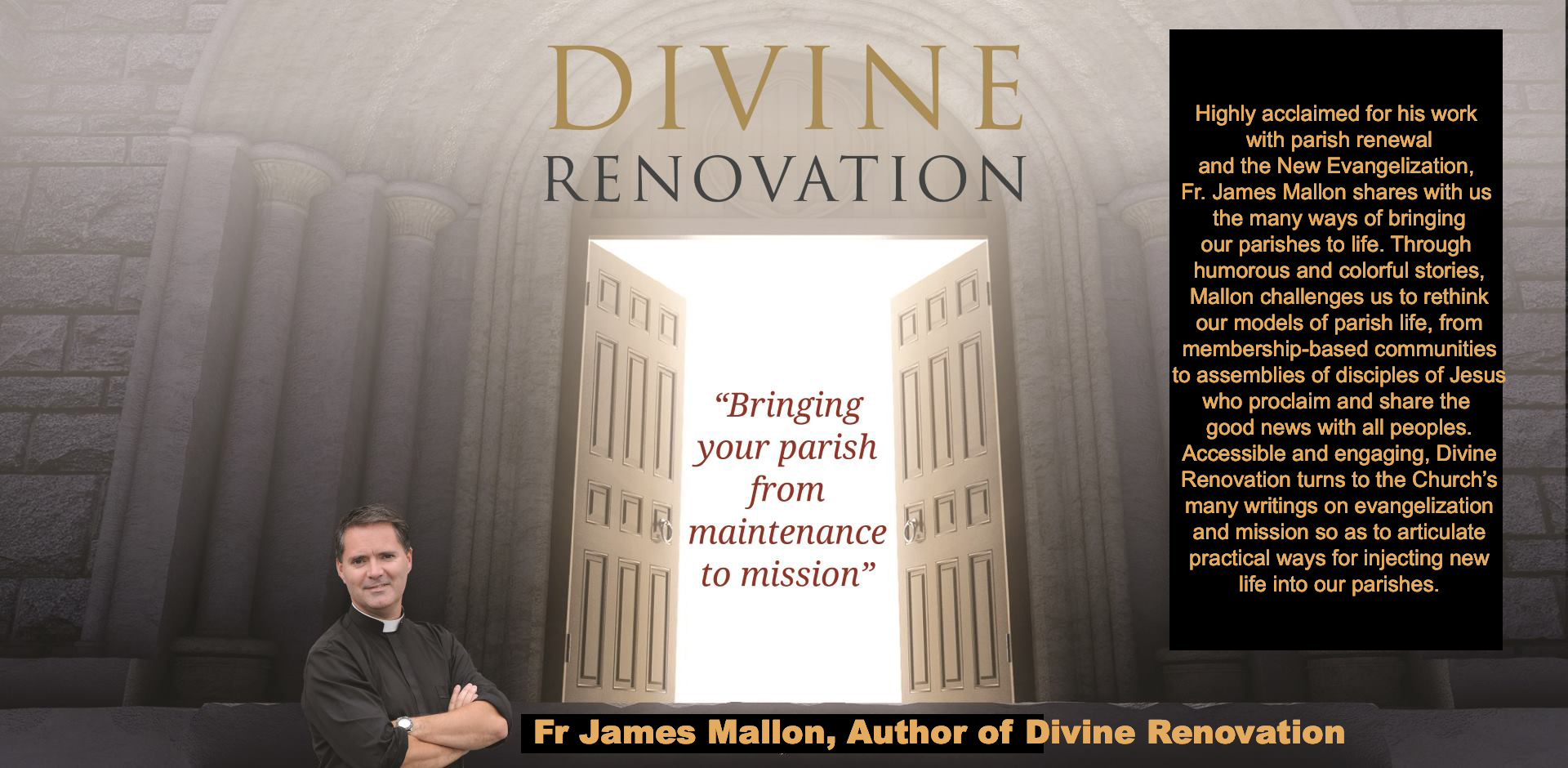 WATCH FATHER MALLON IN THIS FIVE PART INTERVIEW SERIES ON HIS EXPERIENCES AT ST BENEDICTS IN NOVA SCOTIA, THE BIRTHPLACE OF DIVINE RENOVATION. DIVINE RENOVATION HAS BEEN AN INSPIRATION FOR EPIPHANY.