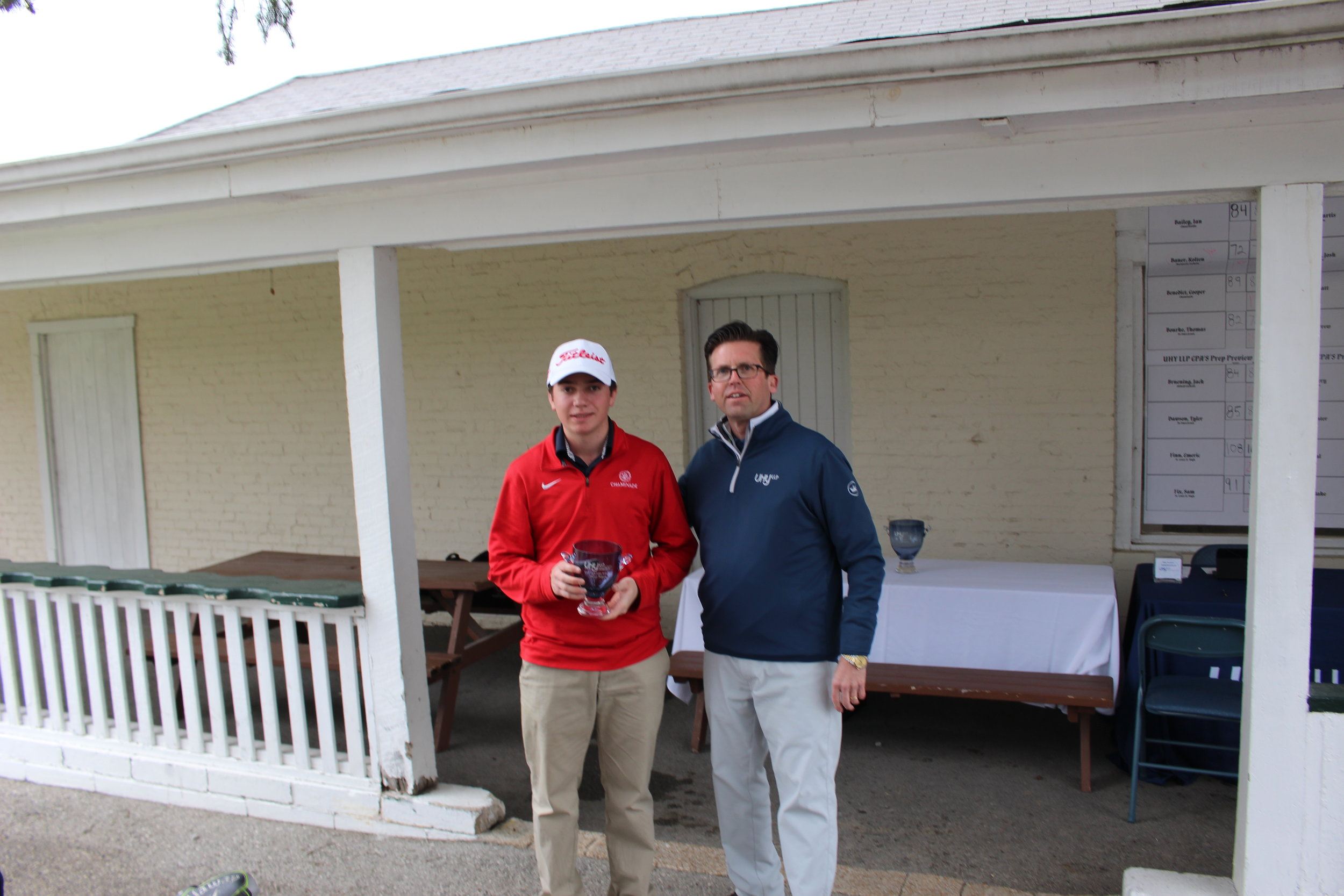 - Chaminade's Josh Heidenry took third place shooting 76-77 for a 11 over part total of 153.
