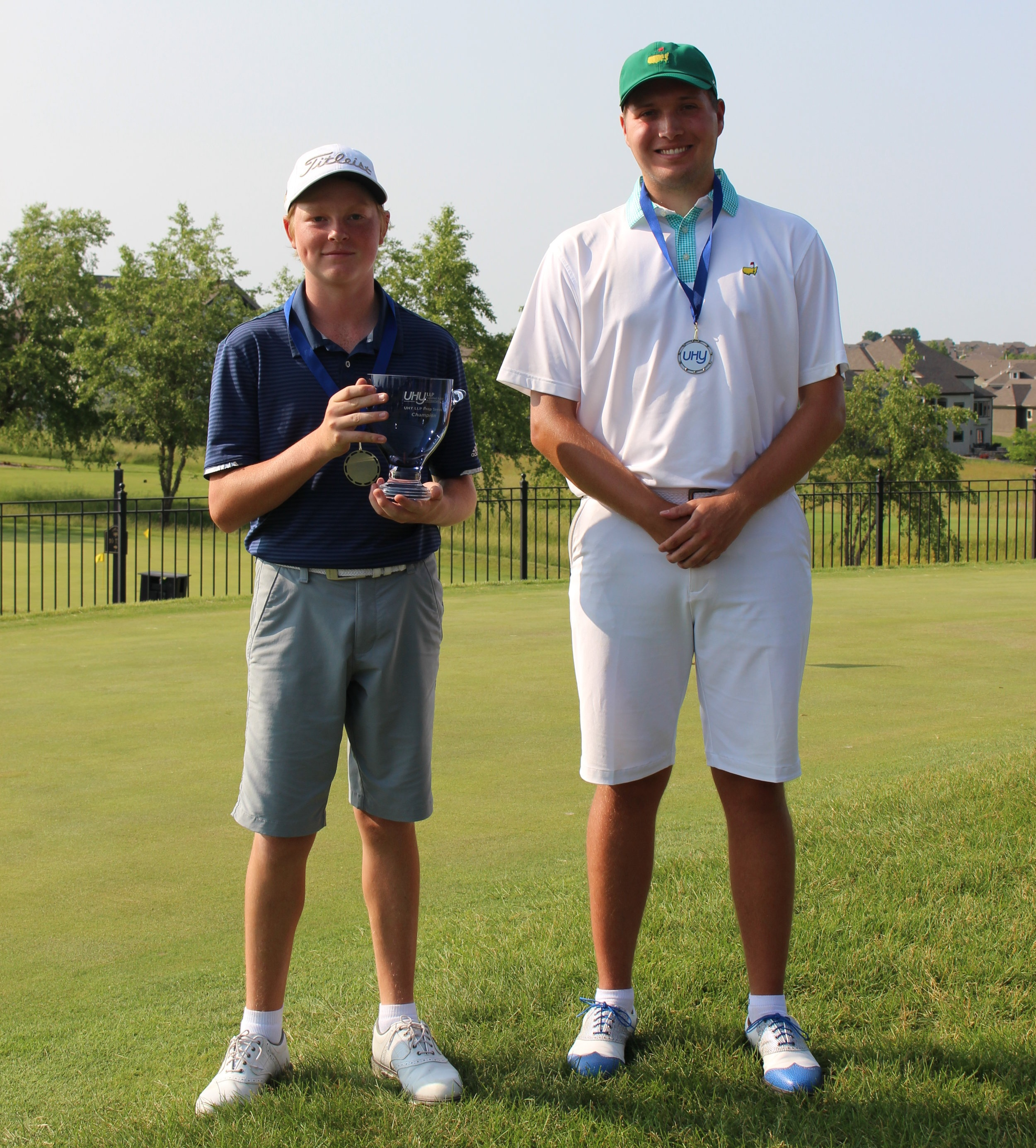 Ian McCrary from Overland Park, KS was the boys champion winning a scorecard playoff over Nick Pittman from Urbandale, Iowa. Both Ian (77-73) and Nick (74-76) shot 6 over par 150. William Whitelaw from Fayetteville, AR finished 1 shot back in third (77-74-151).